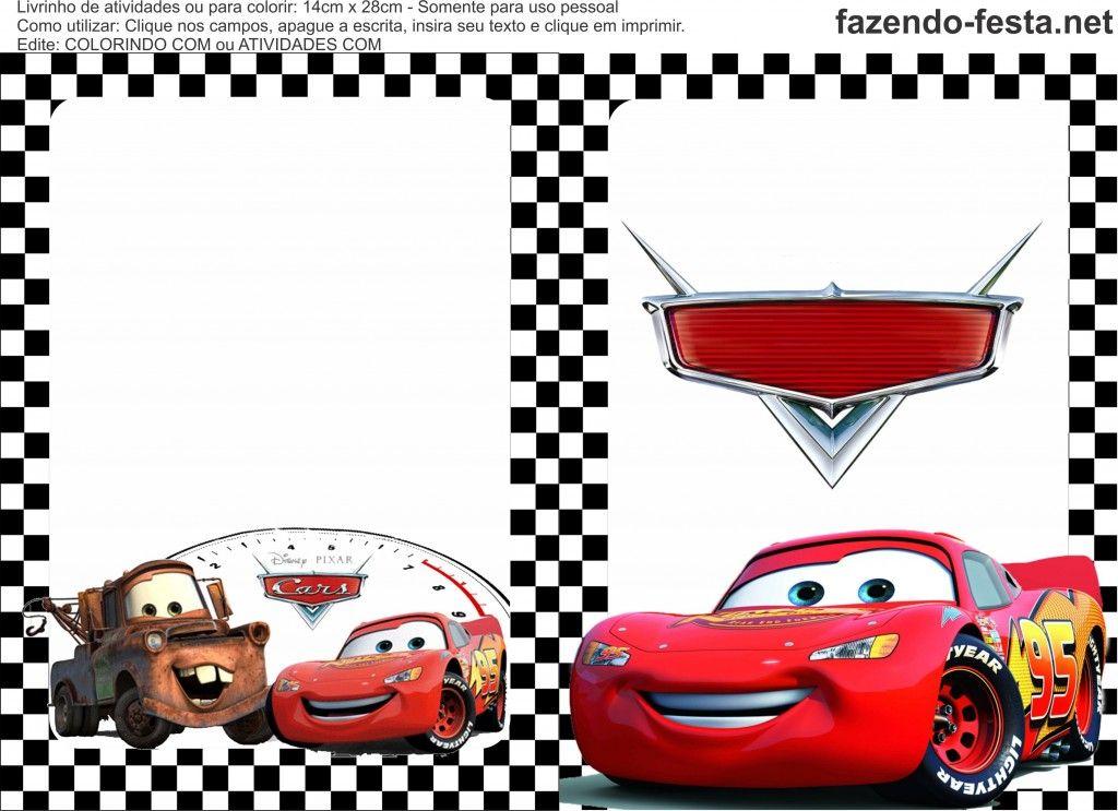 Livrinho De Colorir Carros Da Disney Para Imprimir Carros Da