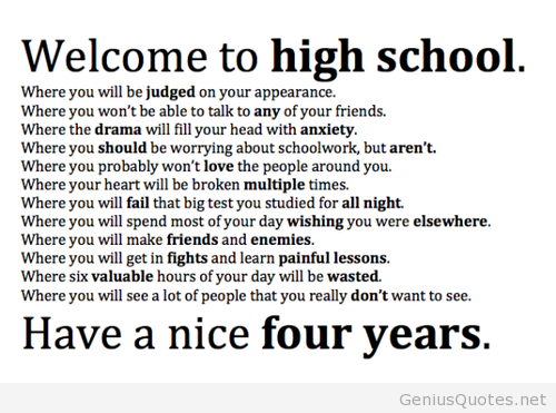 Tumblr high school quote | That May Night..