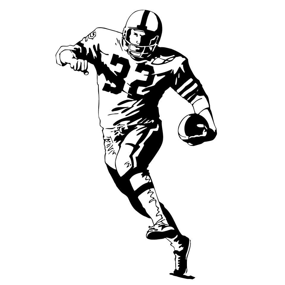 American Football Player 32 Vinyl Art Wall Decal | Products | Pinterest