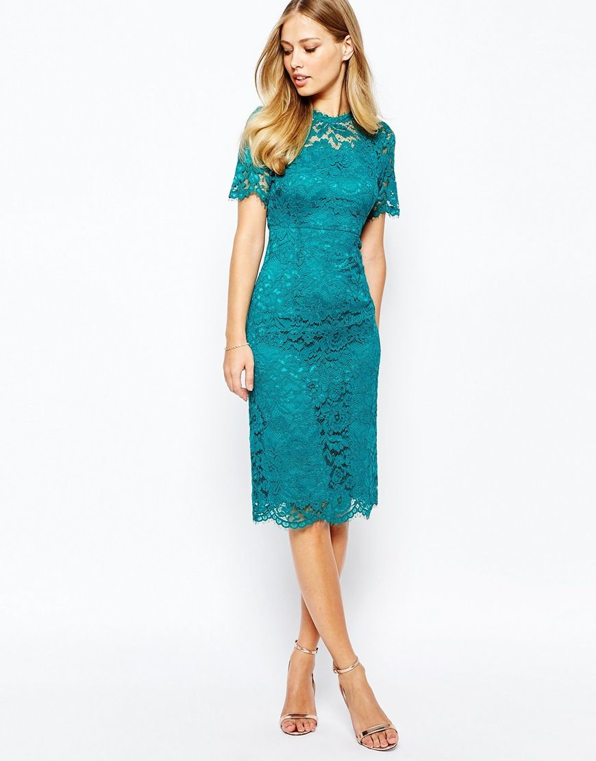Shift dresses for wedding guests  Image  of Coast Cassia Shift Dress In All Over Lace  Emily wedding