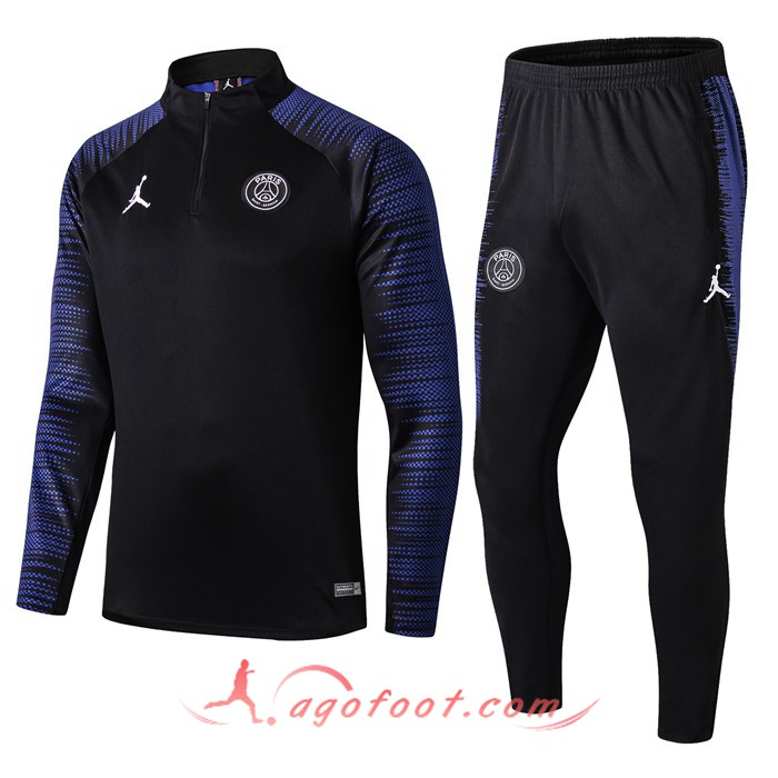 bas prix 50d8a 95023 Nouveaux Ensemble Survetement Foot PSG Jordan Noir Bleu 19 ...