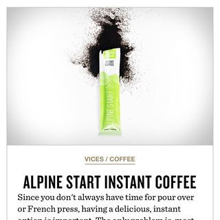 Alpine Start makes premium instant coffee for everyday adventures. | Café