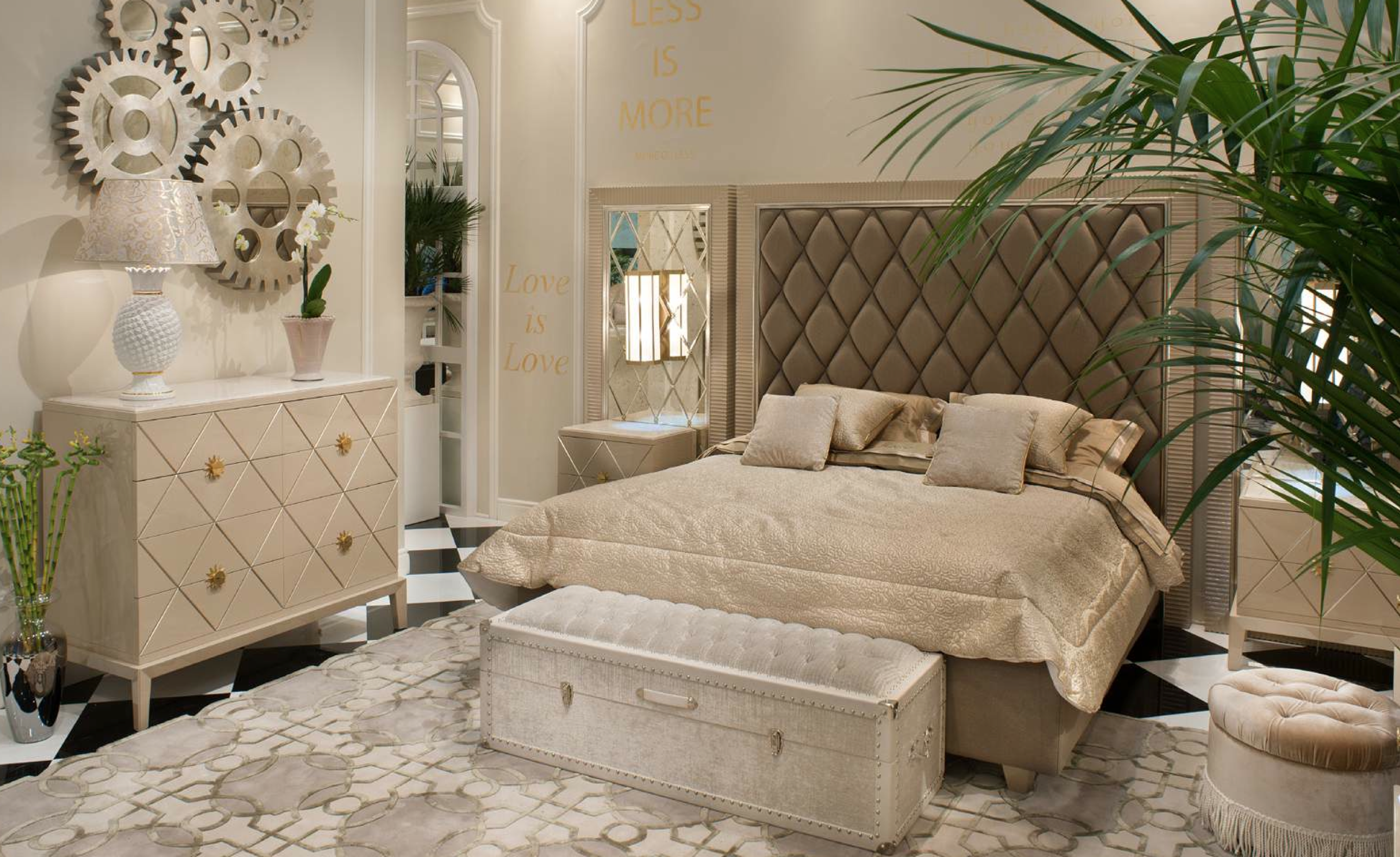 Bedroom of Great Gatsby Collection cappuccino artdeco
