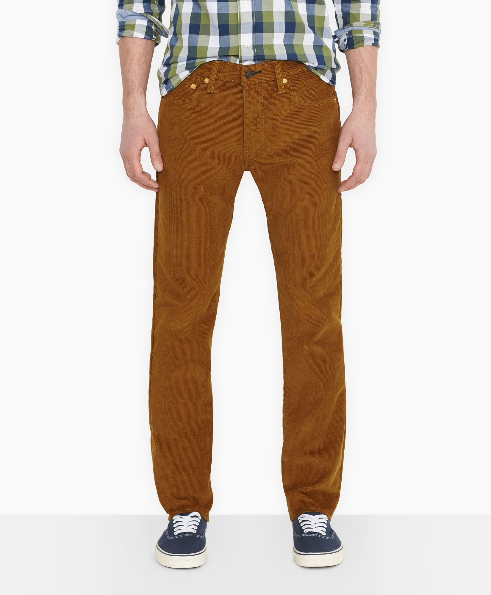 Levi's 511™ Slim Fit Water Repellant Corduroy Pants - Bronze Brown ...