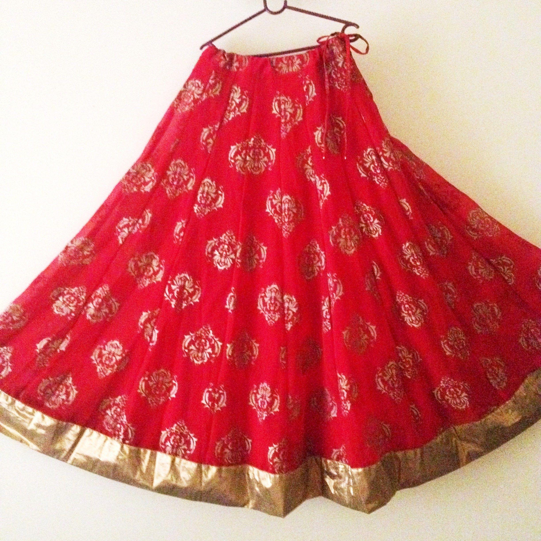 Indian Long Skirt Dance Skirts Bollywood Skirt Black Cotton Skirt with Border