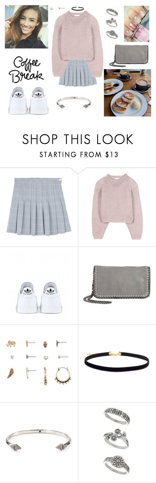 """30/04/17"" by milena-serranista ❤ liked on Polyvore featuring Chloé, adidas, STELLA McCARTNEY, Aéropostale, House of Harlow 1960 and Miss Selfridge"