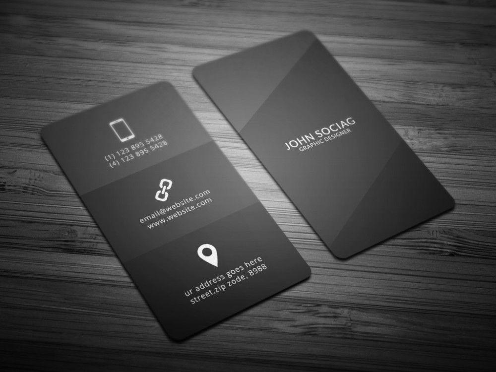 minimalist business card template psd