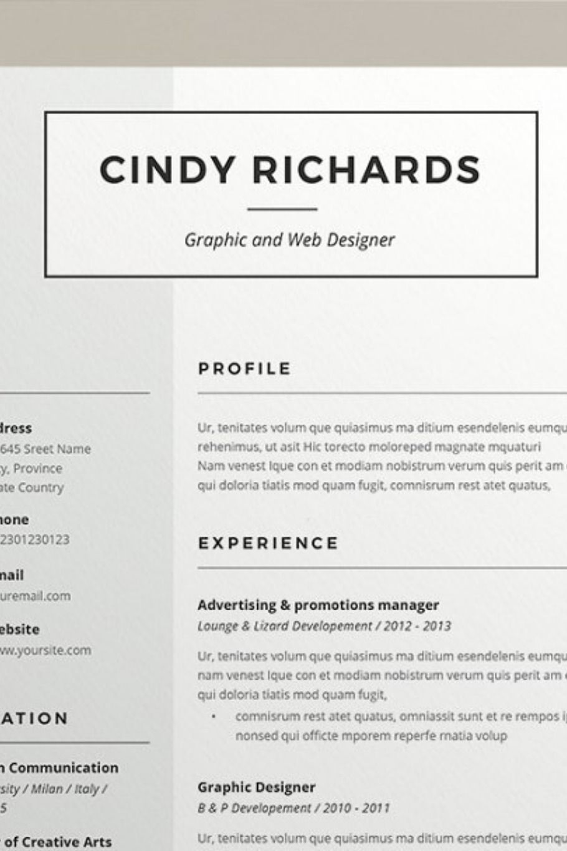47++ Web designer resume template free download Format