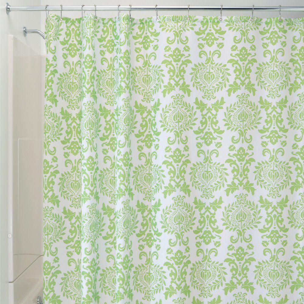 InterDesign Damask Shower Curtain, 72 By 72