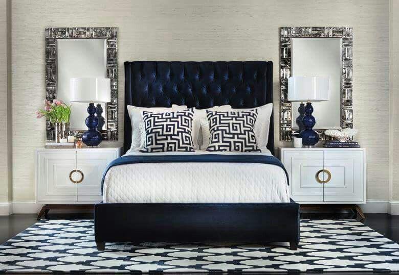 Best Royal Blue Posh Bedroom White Bedroom Design Home 640 x 480
