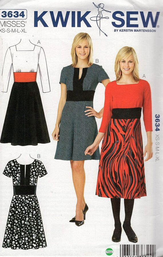 Free Us Ship Sewing Pattern Kwik Sew 3634 Misses By Lanetzliving