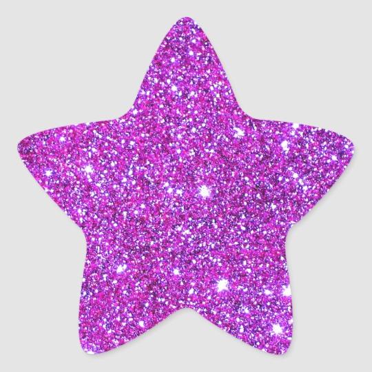 Hot Pink Sparkle Glittery Cricketdiane Art Star Sticker Zazzle Com Purple Glitter Blue Glitter Purple Sparkle