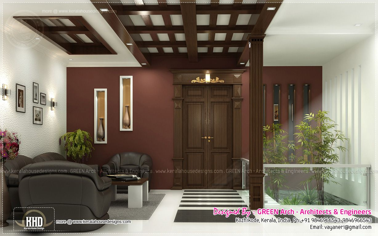 Fine Interior House Designs In Kerala Courtyard Images Google