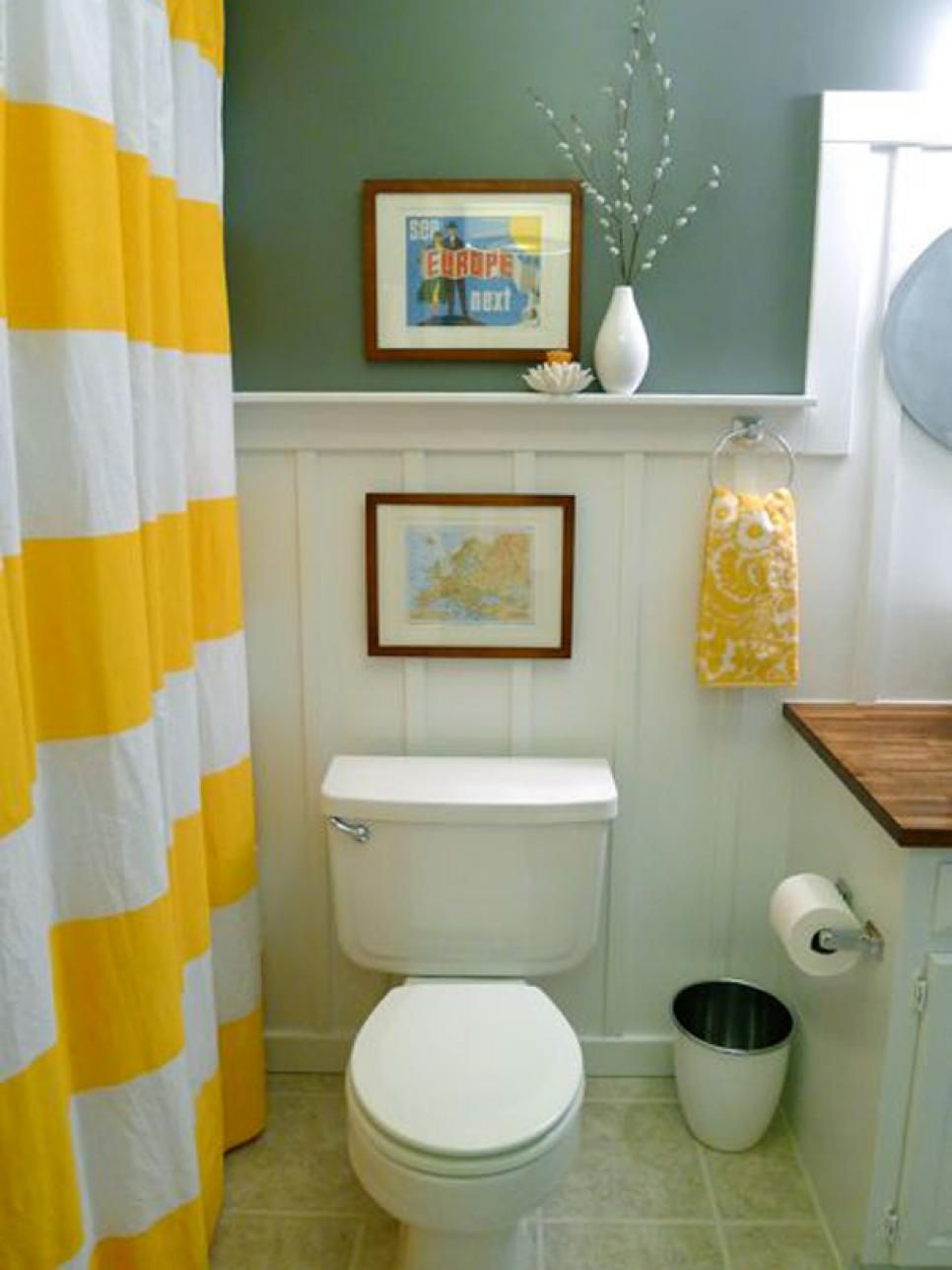 Budget Bathroom Makeovers Toilets The Wall and Plumbing