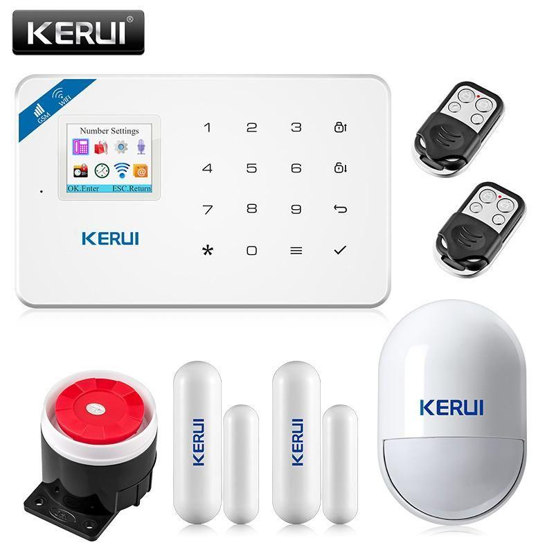 2017 Kerui W18 Wireless Wifi GSM IOS/Android APP Control