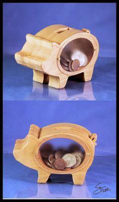 Piggy Bank Pattern Scroll Saw Woodworking Jigsaw