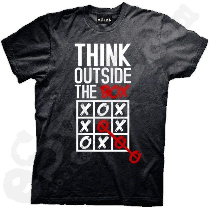 t shirt design think outside the box - Ideas For T Shirt Designs
