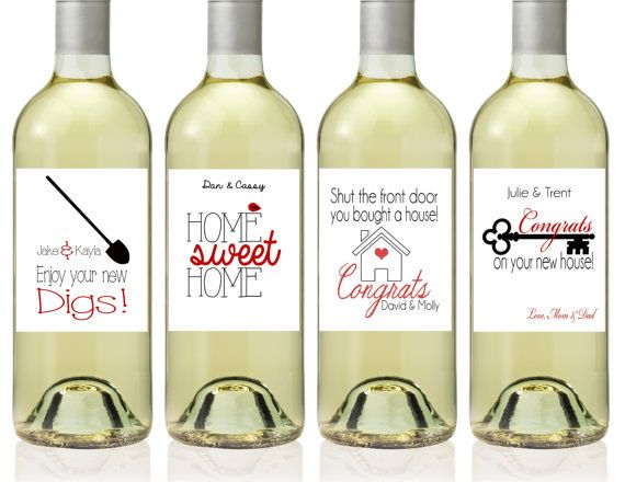 Congrats New Home Wine Bottle Labels New House Wine Bottle Label