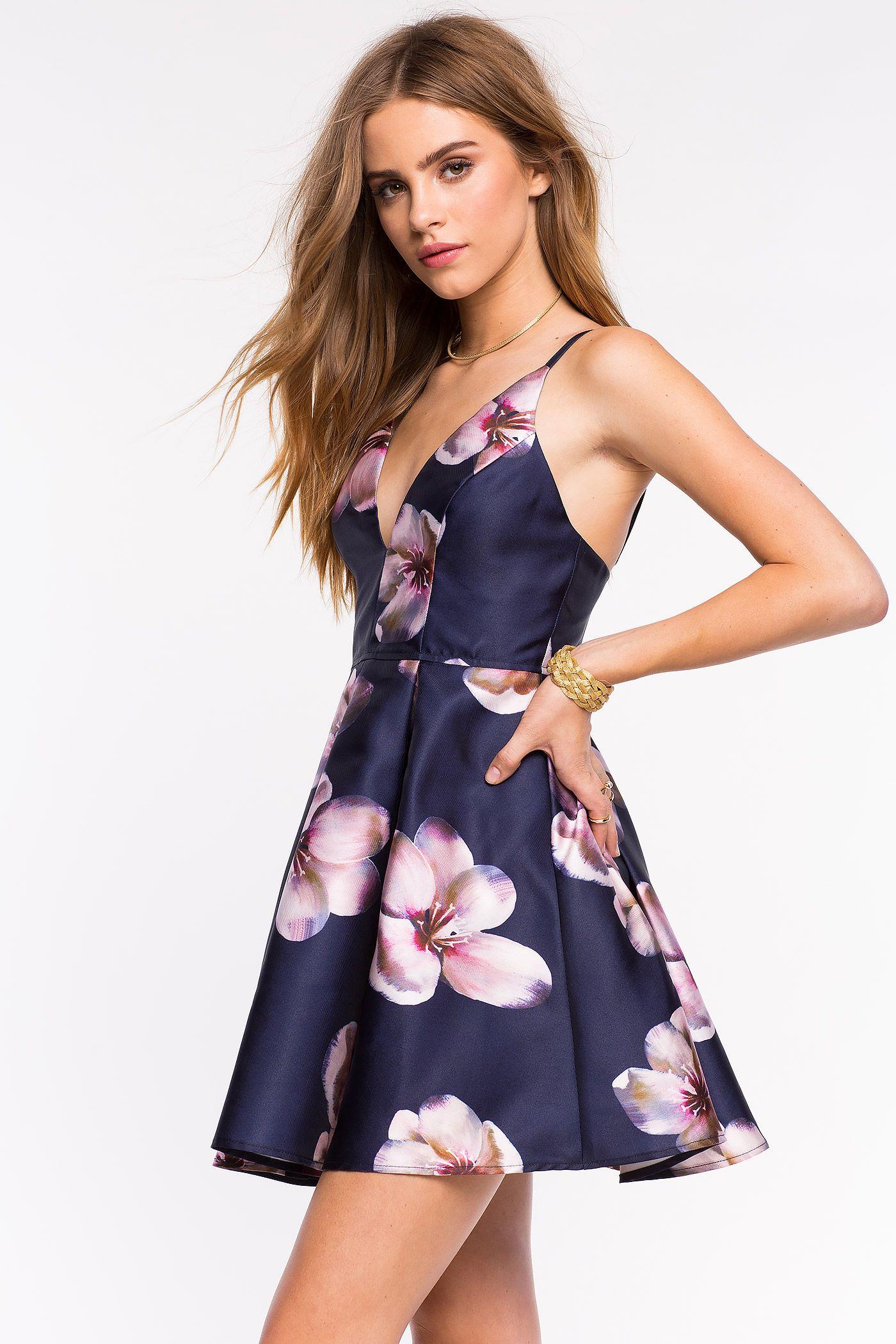 Womenus fit u flare dresses wonderland floral flare dress augaci