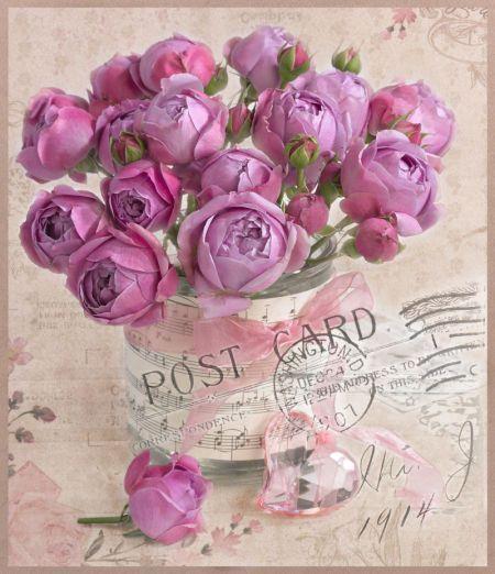 Marianna Lokshina - Postcard Greeting Card Floral Flowers LMN41231