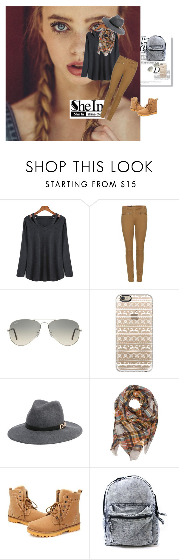 """""""Hollow Black T-Shirt"""" by azra-2709 ❤ liked on Polyvore featuring Anja, Loro Piana, Ray-Ban, Casetify and Bebe"""