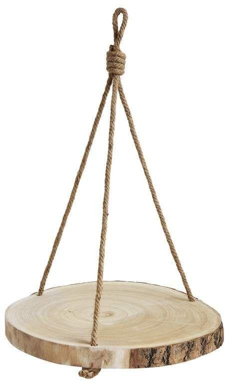Photo of Louane Round Hanging Wood Slice Hanging Planter | Joss & Main