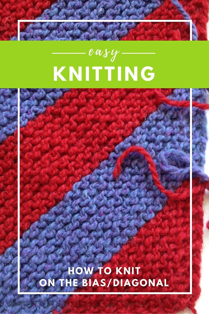 Diagonal Knitting How-To   Dos agujas, Tejido y Puntos
