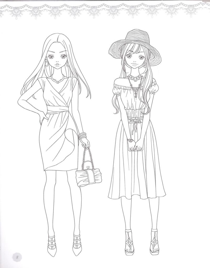 Fashion Coloring Page source