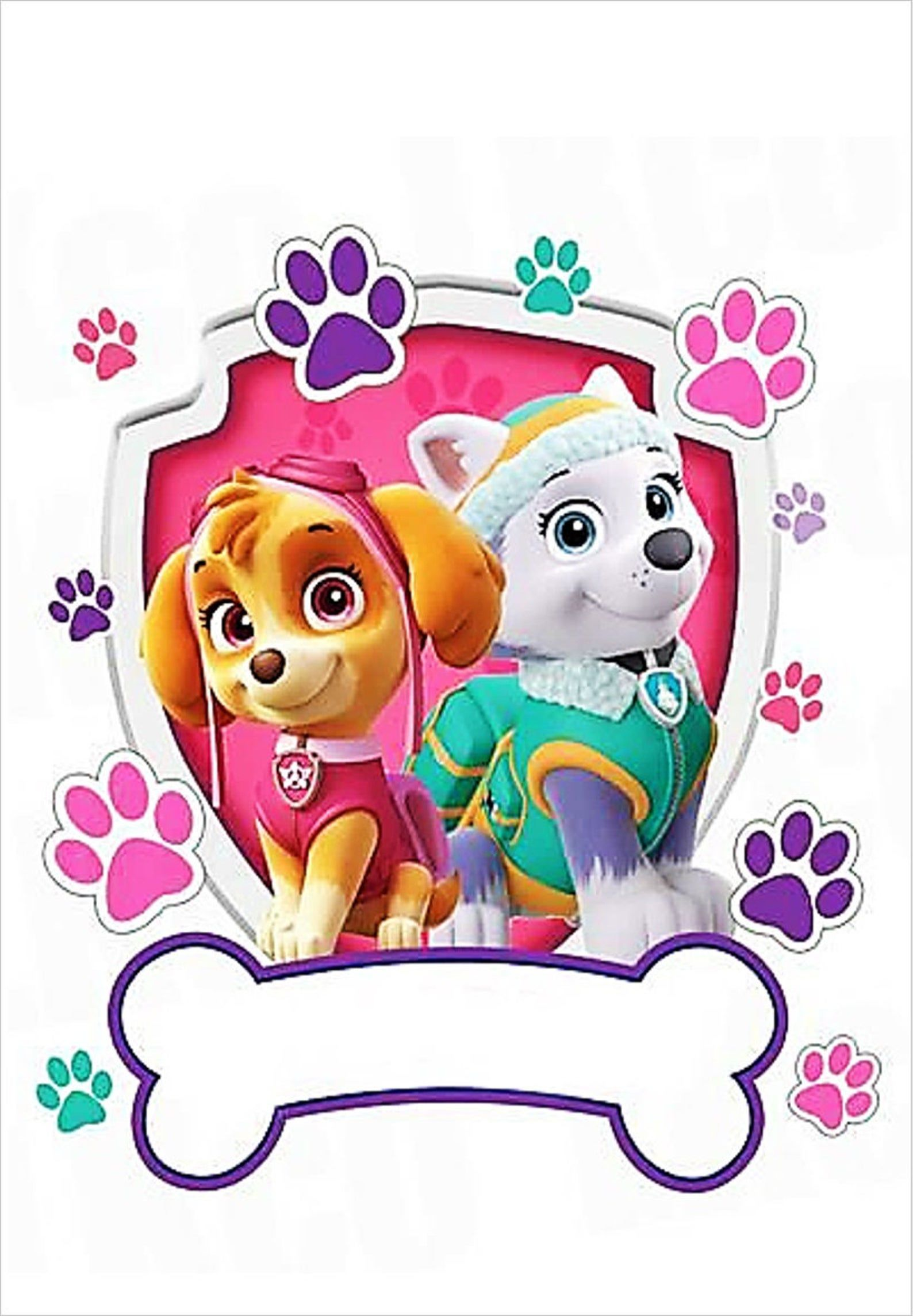 Paw Patrol Personalised Wafer Cake Topper A4 Size In 2021 Paw Patrol Birthday Paw Patrol Birthday Girl Paw Patrol Birthday Party