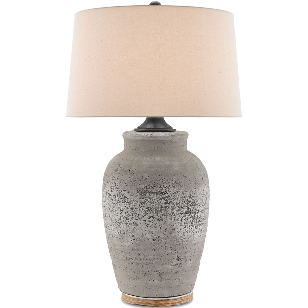 Rustic Gray Concrete Table Lamp Concrete Table Lamp Table Lamp Vase Table Lamp