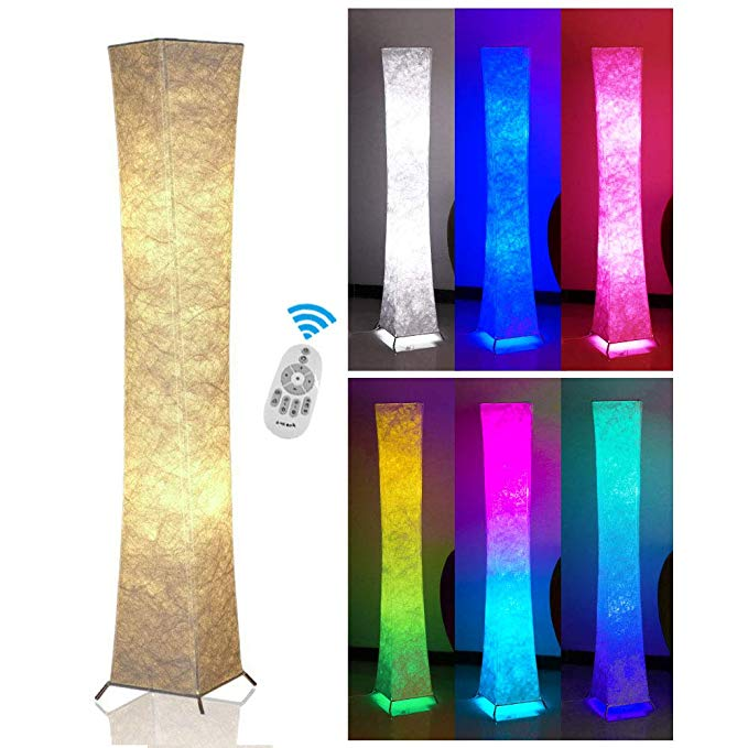 Soft Light Slim Floor Lamp With Remote Control Fy Light 52 Rgb