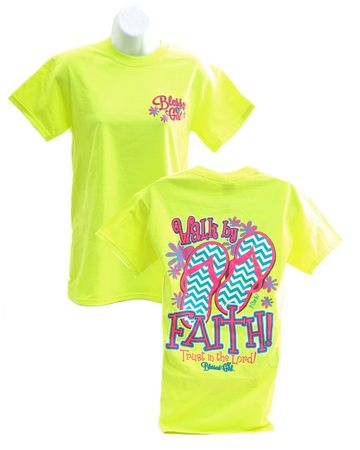 Walk By Faith 2, Blessed Girl Tee Shirt, Large - Christianbook.com