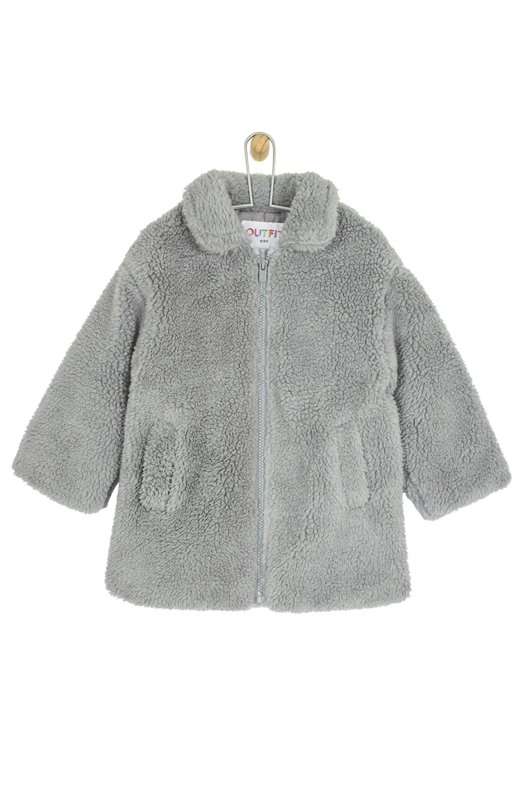 9a37c9227 Girls Outfit Kids Toddler Girls Teddy Fleece Coat - Grey in 2019 ...
