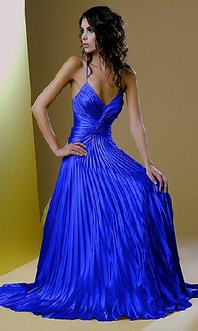 Cobalt blue prom dress.