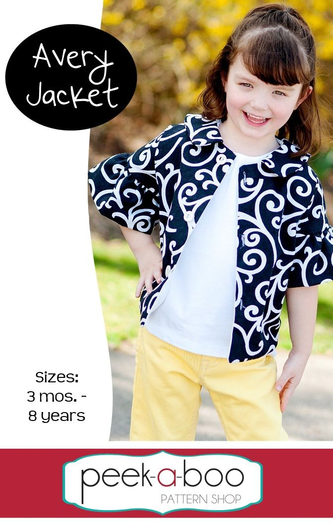 Avery Jacket PDF sewing pattern available at Fairytale Frocks & Lollipops.  #sewing