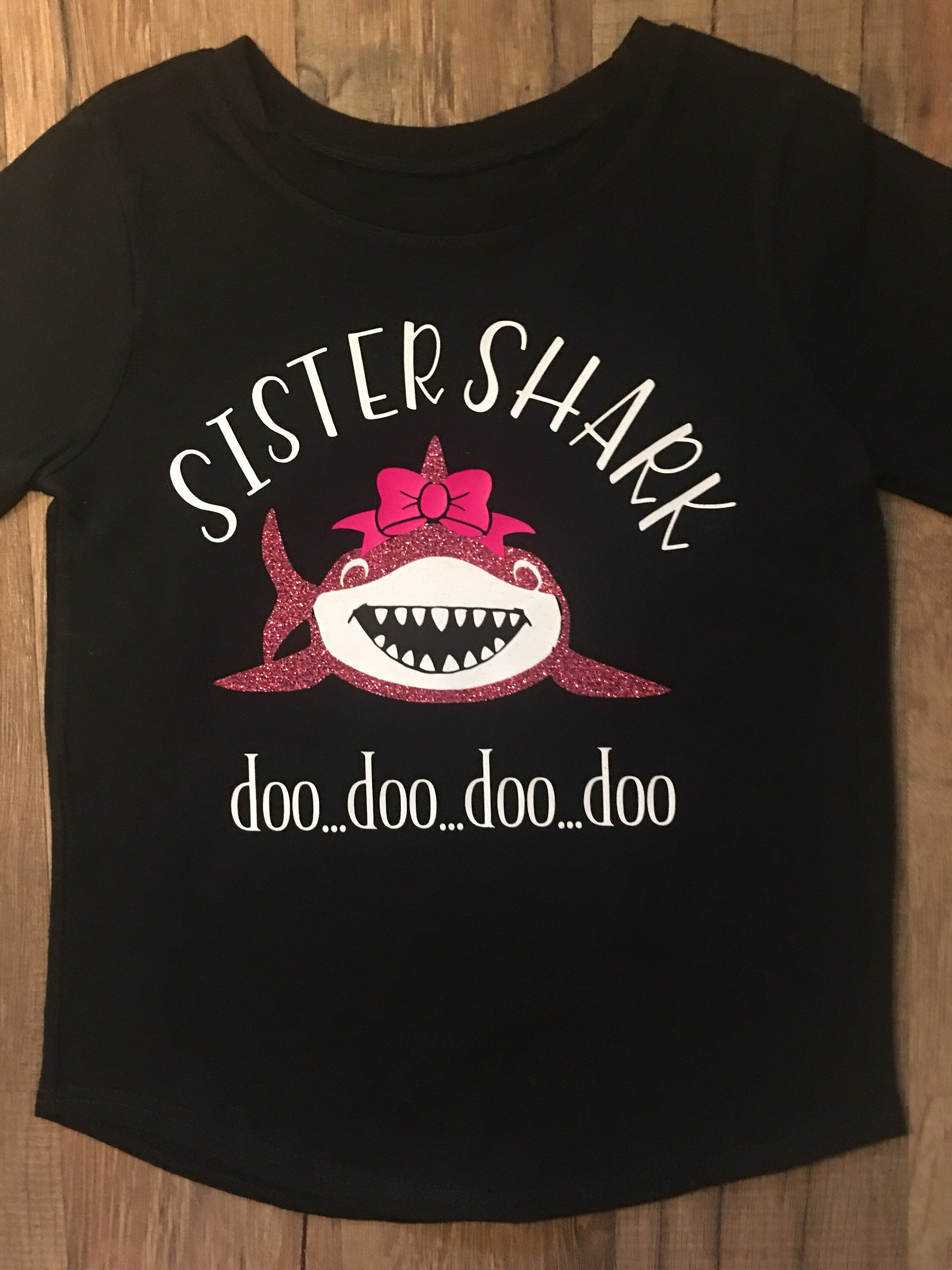 44723c05 Excited to share this item from my #etsy shop: Family Shark T shirts!! Sister  Shark Do do do doo t shirt! Custom Family Shark t shirts. Brother shark,  mommy ...