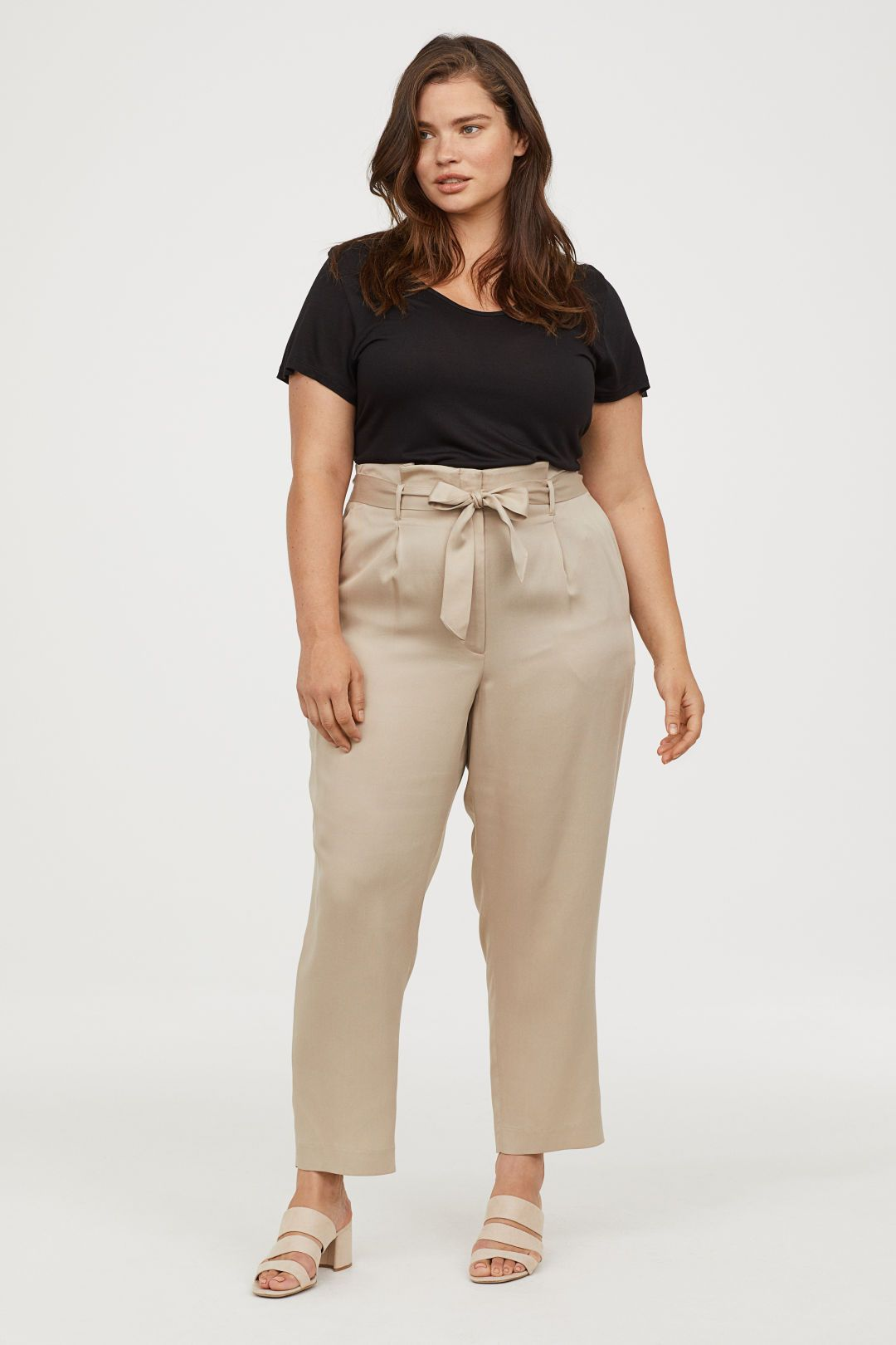 3014b9ce8244c0 Paper-bag Pants in 2019 | Plus Bottoms | Fashion, Womens_fashion ...