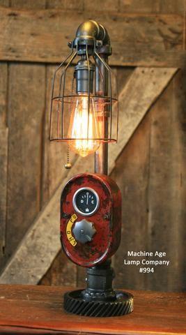Steampunk Lamp, Antique Farmall Tractor Dash Farm Lamp #994 ...