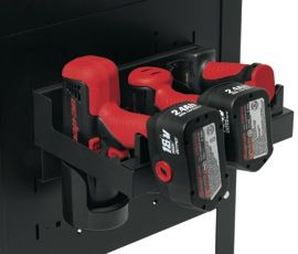 Snap-on's power tool rack (KAS12PWRPV) is designed to hold