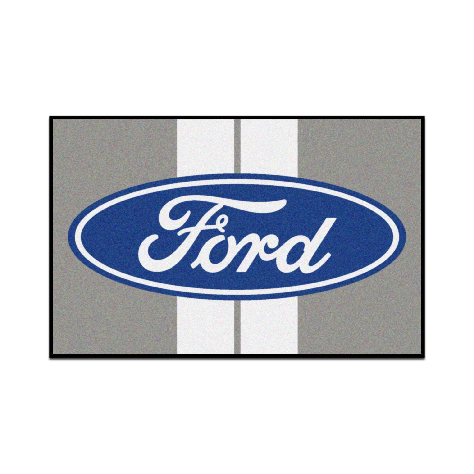 Ford Grey Indoor Outdoor Use Area Rug Logos De Coches Emblema