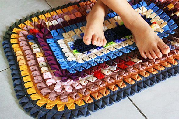 Easy Homemade Rugs | Rag Rug U2013 Grannyu0027s Style | Free Pattern U0026 Tutorial At  CraftPassion