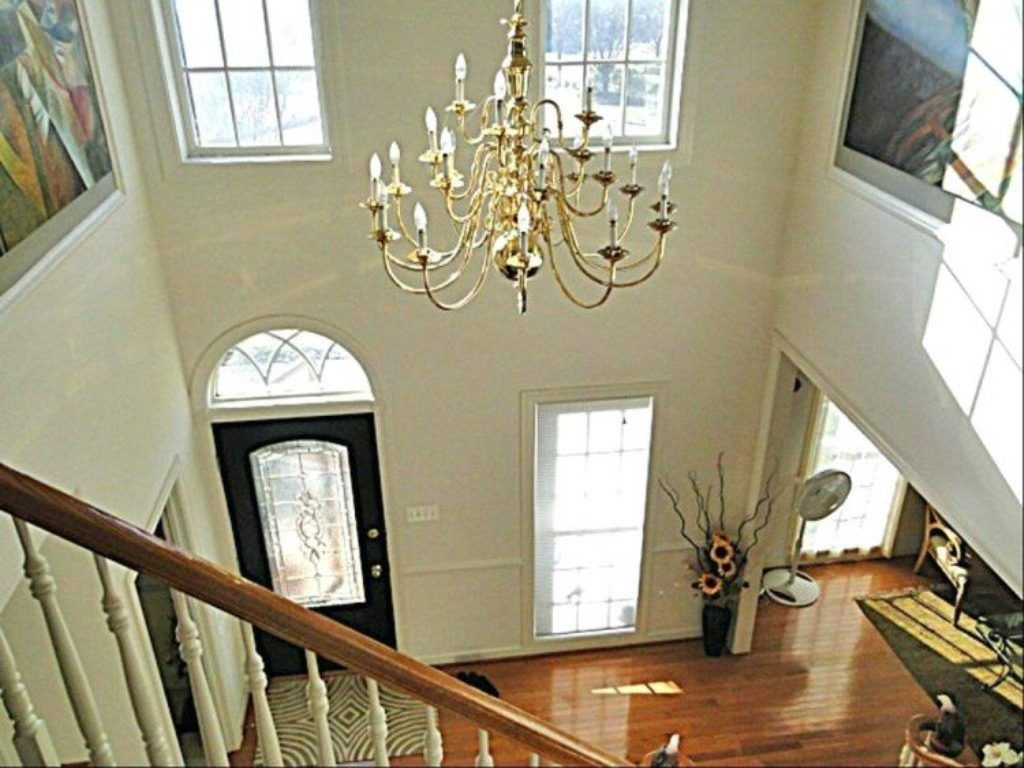 Contemporary Foyers Ideas : Interior unfinished candle chandelier modern contemporary foyer