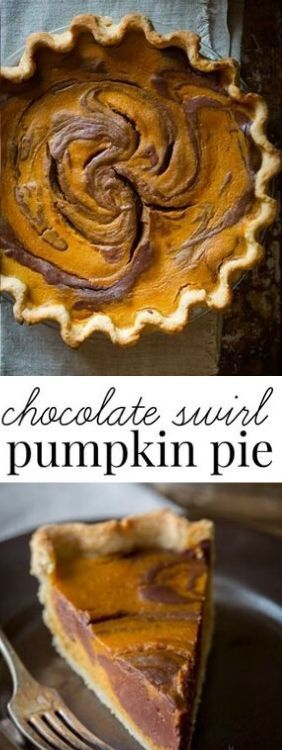 ★★★★★ 163 Chocolate Swirl Pumpkin Pie