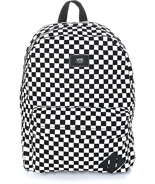 Vans Old Skool II Black   White Checker Backpack  07cf1337a4a
