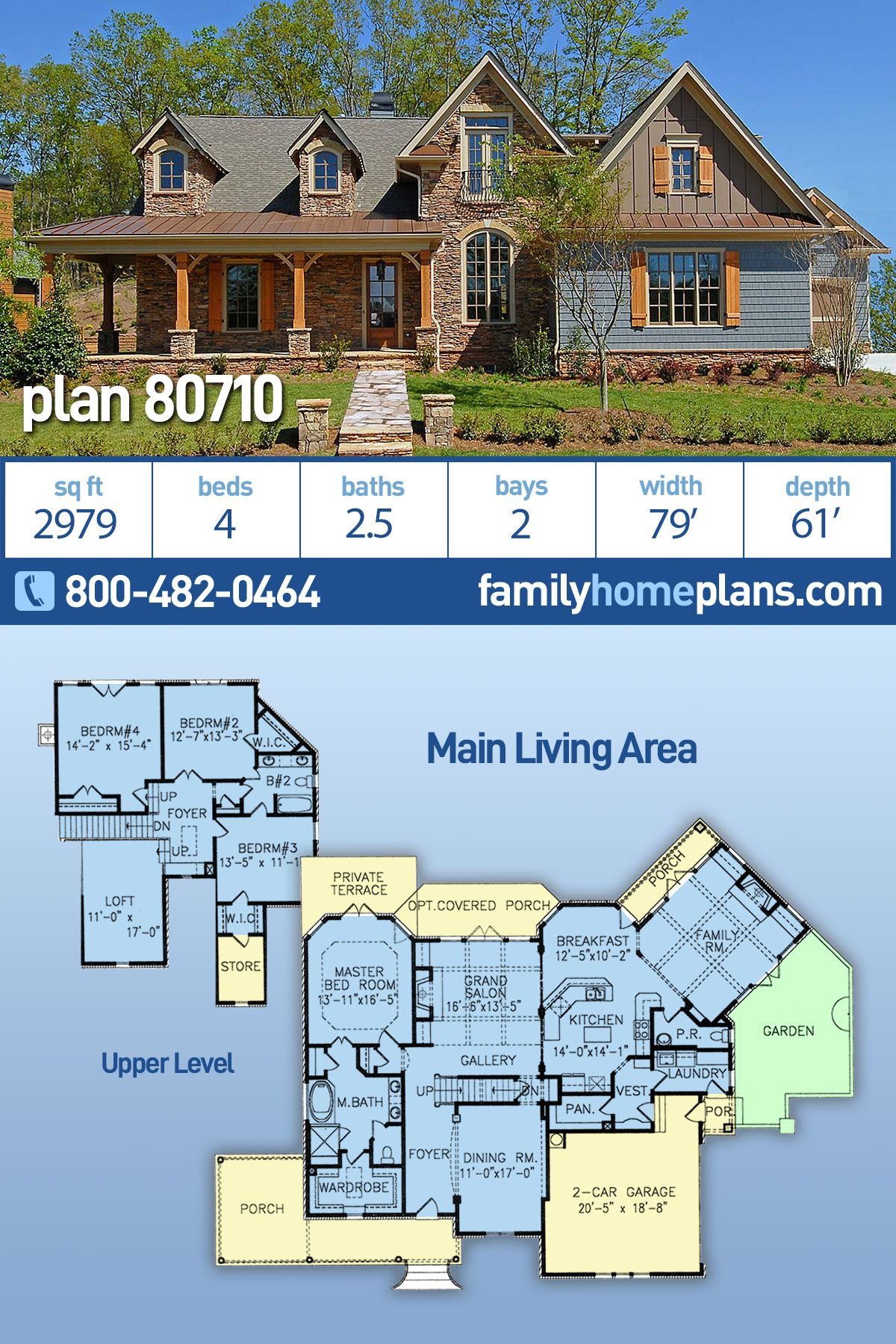 Southern Style House Plan 80710 With 4 Bed 3 Bath 2 Car Garage Family House Plans Farmhouse Plans House Plans Farmhouse