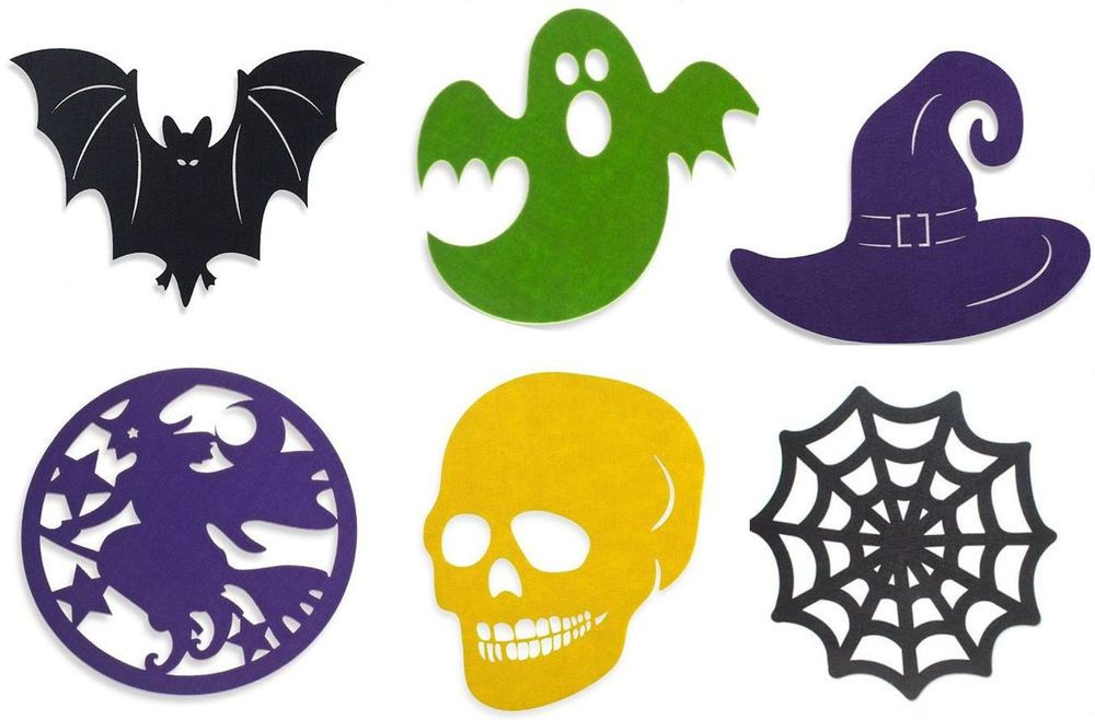Halloween Felt Placemat 1 ct - Choose the shape you want!