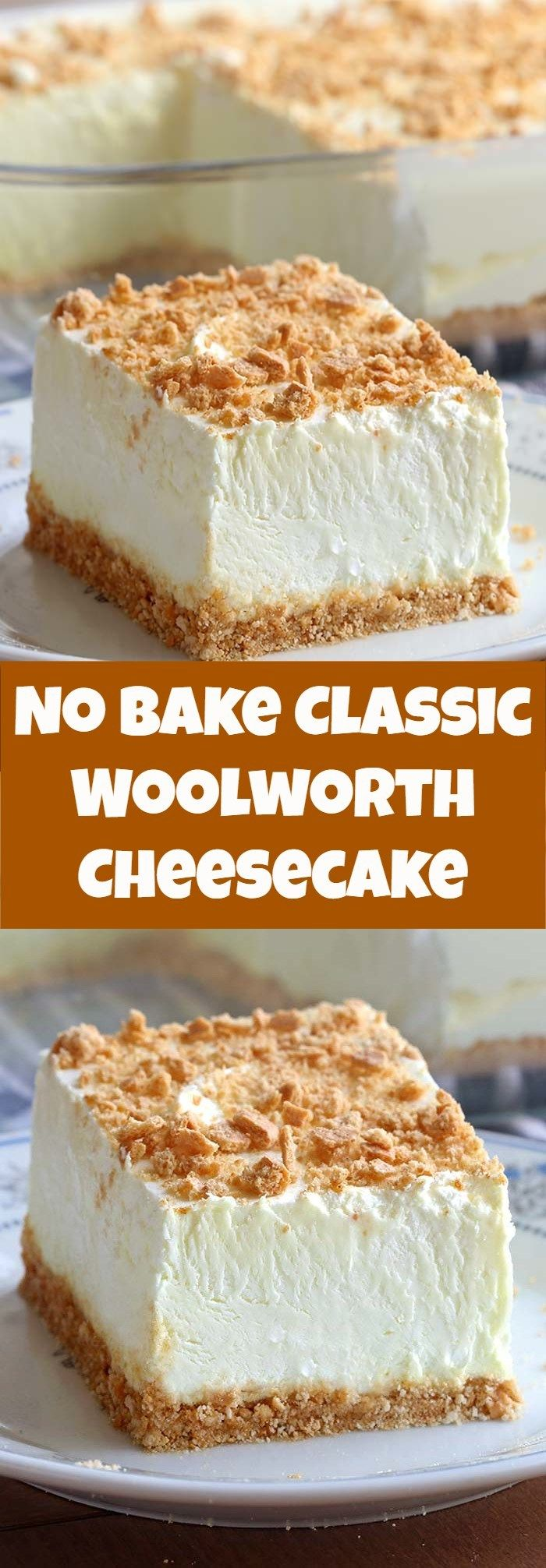 No Bake Classic Woolworth Cheesecake Spatula Fans Cream Cheese Desserts Cake Baking Recipes Cream Cheese Cake Recipes