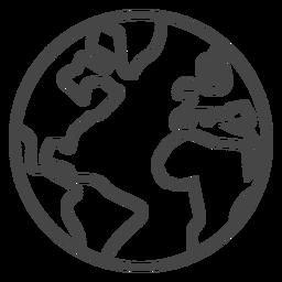 Earth Stroke Icon In Digital Illustration Tutorial Icon Graphic Image