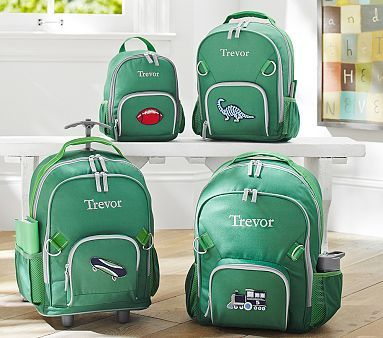 Fairfax Green/Gray Backpacks he wants the green small with dino patch
