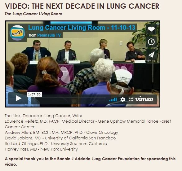Video The Next Decade In Lung Cancer Tahoe Forest Cancer Center